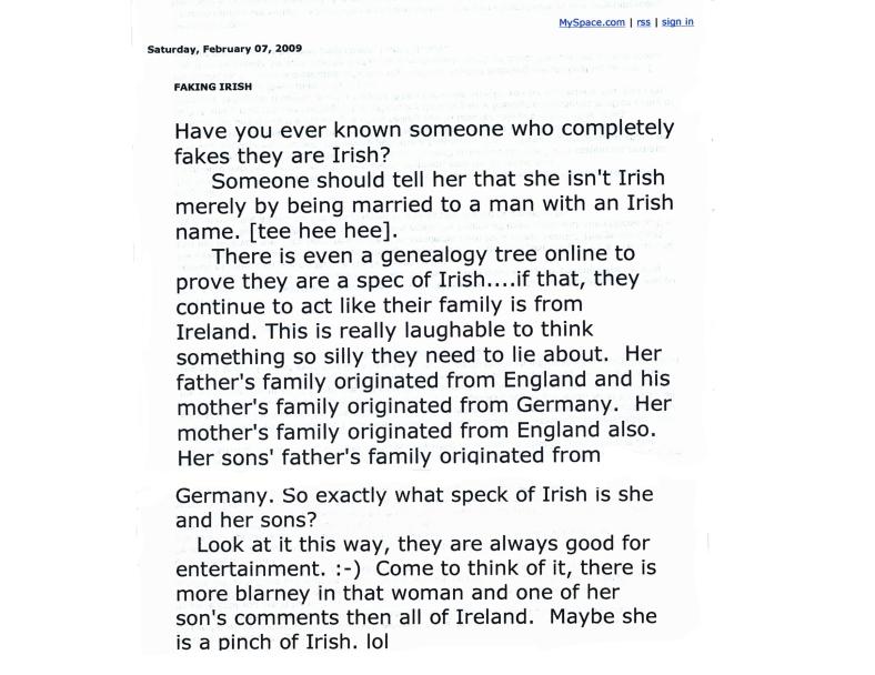 Faking Irish
