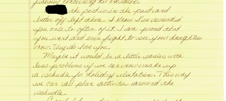 Christmas 1984 letter redacted