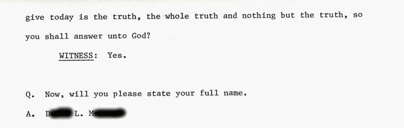 Deposition June 1984 oath 2