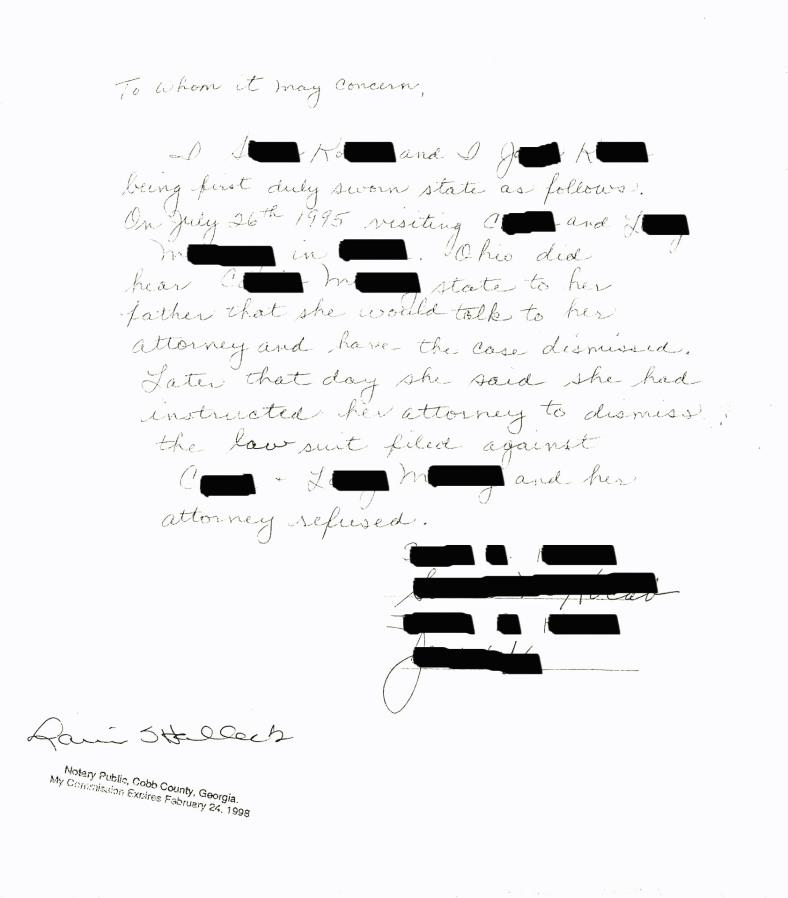 Dismiss Affidavit