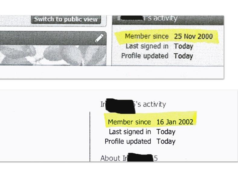 Ancestry membership dates redacted