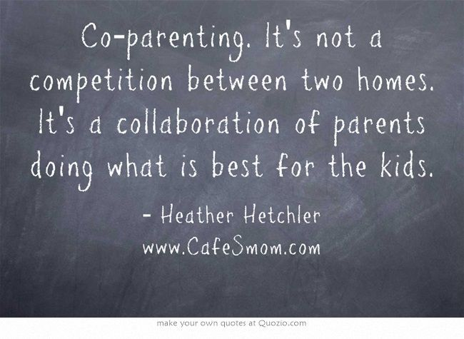 Co-Parenting is Not a Competition