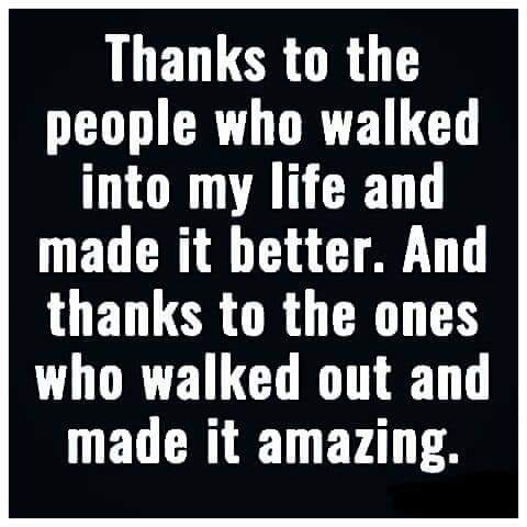 Thanks to the people who walked